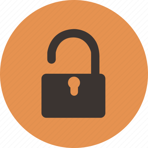 privacy, unlock, unprotected, unsafe, unsecure icon