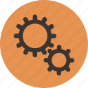 gears, settings, streamline icon