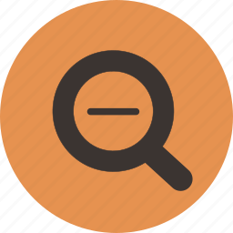 magnify, minus, out, zoom icon