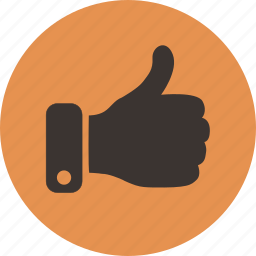 hand, like, positive, thumbs, up, vote icon