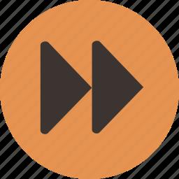 fast, forward, media, player icon
