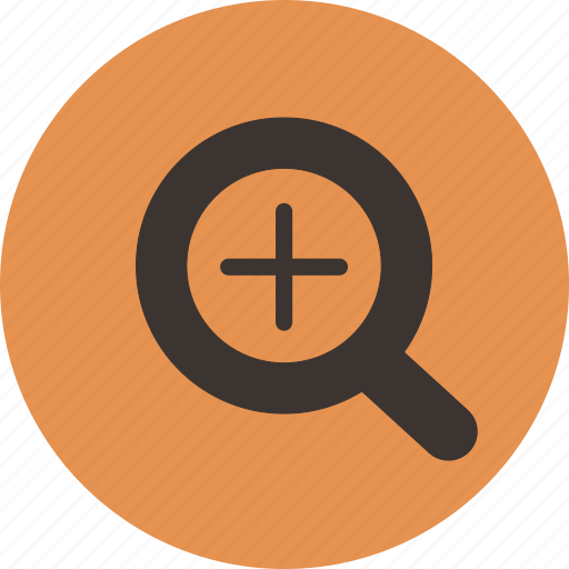 enlarge, in, magnify, plus, zoom icon