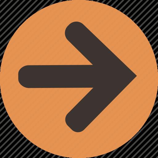 arrow, direction, forward, next, right icon