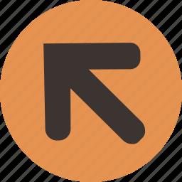 arrow, corner, left, top icon