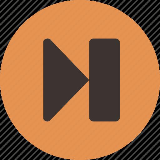 media, next, player, skip, track icon