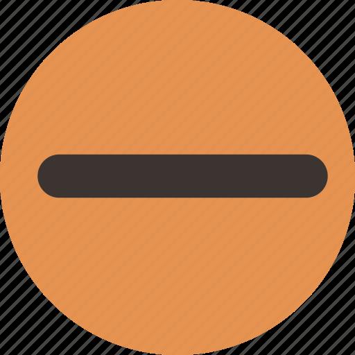 entrance, entry, line, minus, no, shape, stop icon