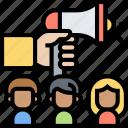 activity, megaphone, campaign, advertising, announcement
