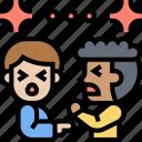 conflict, controversy, men, quarrel, argument