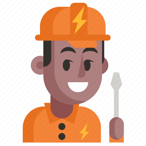 Avatar, electrician, job, man, profession, user, work icon - Download on Iconfinder