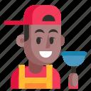 avatar, job, man, plumber, profession, user, work icon
