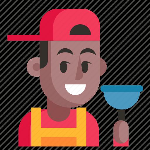 Avatar, job, man, plumber, profession, user, work icon - Download on Iconfinder