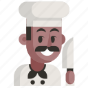 avatar, chef, job, man, profession, user, work