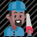 avatar, carpenter, job, man, profession, user, work