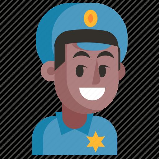 Avatar, job, man, policeman, profession, user, work icon - Download on Iconfinder