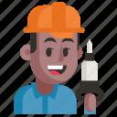 avatar, job, man, miner, profession, user, work