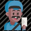 avatar, job, man, postman, profession, user, work