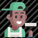 avatar, cleaner, job, man, profession, user, work icon