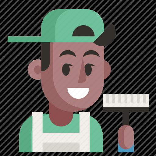 Avatar, cleaner, job, man, profession, user, work icon - Download on Iconfinder
