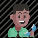 avatar, job, man, profession, secretary, user, work
