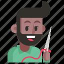 avatar, job, man, profession, seamstress, user, work