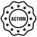 action, label, tag icon