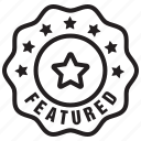 badge, favorite, featured, label, new, star