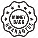 back, badge, guarantee, label, money, tag icon