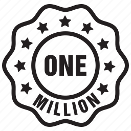 label, million, one, people, user icon