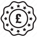 currency, label, money, pound, price icon