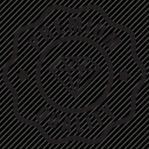 badge, label, premium, quality icon