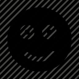 application, emoji, interface, smile, software, web icon