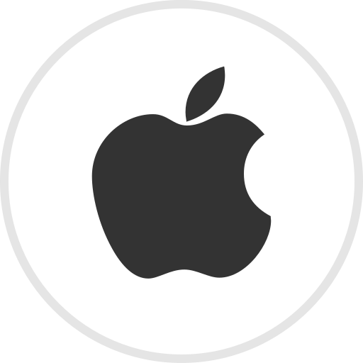 apple, media, online, social icon