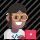 avatar, job, profession, programmer, user, woman, work