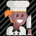 avatar, chef, job, profession, user, woman, work icon