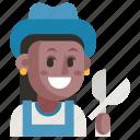 avatar, gardener, job, profession, user, woman, work