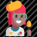 avatar, job, painter, profession, user, woman, work icon
