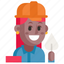 avatar, builder, job, profession, user, woman, work