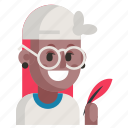 avatar, job, profession, user, woman, work, writer