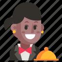 avatar, job, profession, user, waiter, woman, work