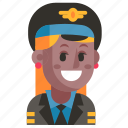 avatar, job, pilot, profession, user, woman, work