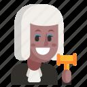 avatar, job, judge, profession, user, woman, work
