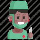 avatar, job, profession, surgeon, user, woman, work