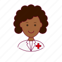 black woman, emprego, enfermeira, job, nurse, professions, trabalho, work icon
