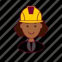 black woman, emprego, engenheira, engineer, job, professions, trabalho, work icon