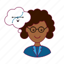 black woman, designer, emprego, job, professions, trabalho, work icon
