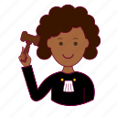 black woman, emprego, job, judge, juíza, professions, trabalho, work icon