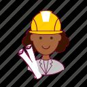 architect, arquiteta, black woman, emprego, job, professions, trabalho, work icon