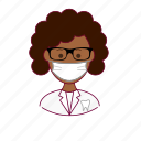 black woman, dentist, dentista, emprego, job, professions, tooth, trabalho, work icon