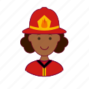 .svg, black woman, bombeira, emprego, firefighter, job, professions, trabalho, work icon