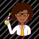 black woman, cientista, emprego, job, professions, scientist, trabalho, work icon
